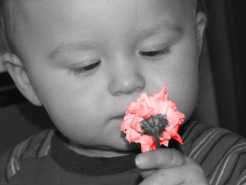 Smelling A Flower by bracken_donna