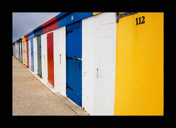 Milford Beach Huts by nickhawk