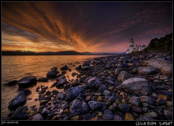 Cloch Point Sunset by JohnnyGraham