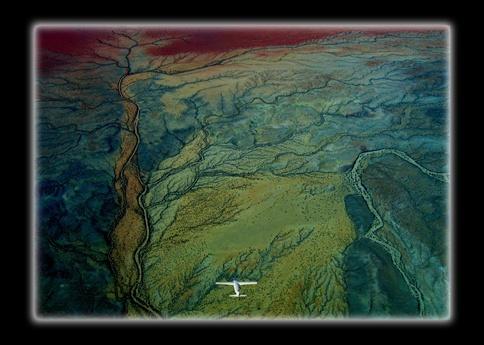 plane over the kaokoveld by WimdeVos