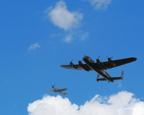 SPITFIRE and AVRO LANCASTER COMING IN by TimothyDMorton