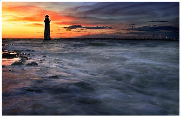 New Brighton Sunset by MarkBroughton