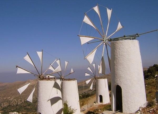 Windmills in Crete by jove
