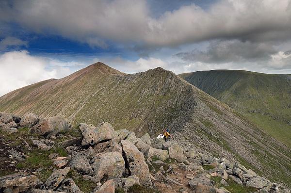 Carn Mor Dearg from Corie Leis ridge. by Richardtyrrelllandscapes