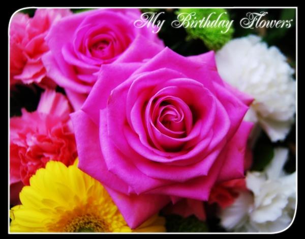 My Birthday Flowers by BrokenAir