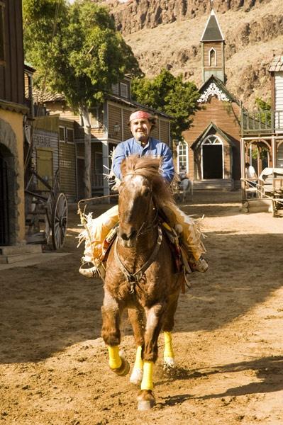 Indian on horseback by wheeldon