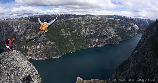BASE, Kjerag. Norway by Darren_Birkin