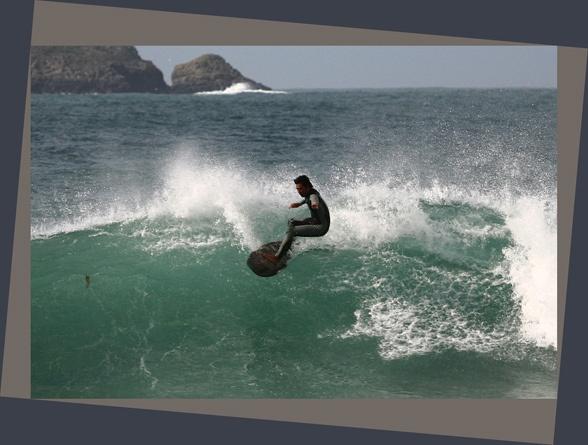 Harlyn Bay surfer by arhb