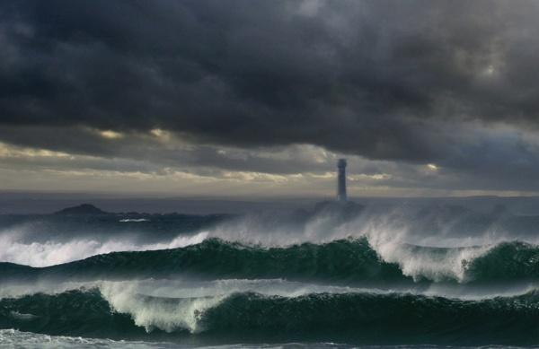 Longships Storm by renavatio