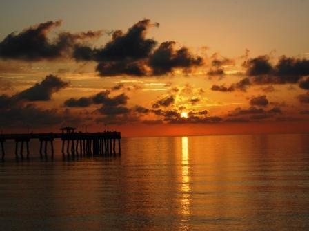 Sunrise at the Pier by Prestidigitator