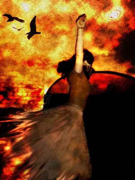 falling in the dark by MaferPriego