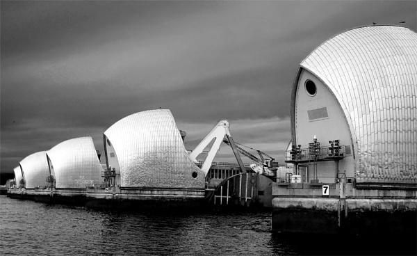 Thames Barrier by LlesdnilLegin