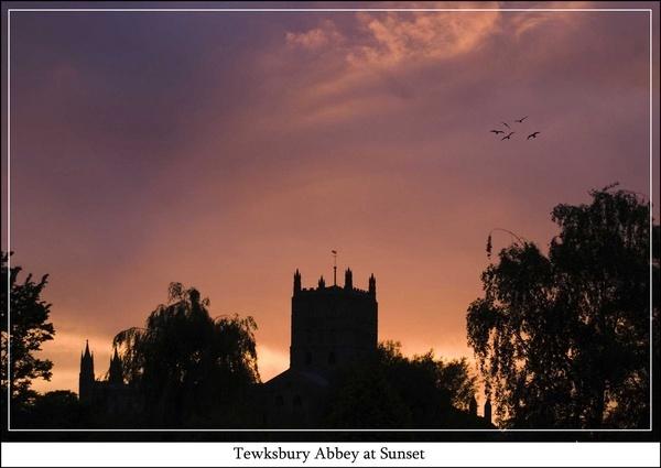 Tewksbury Abbey at Sunset by peel3081