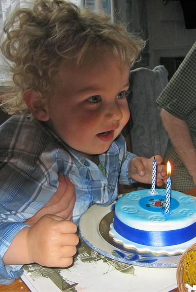 Thomas and his birthday cake by brian.beckett