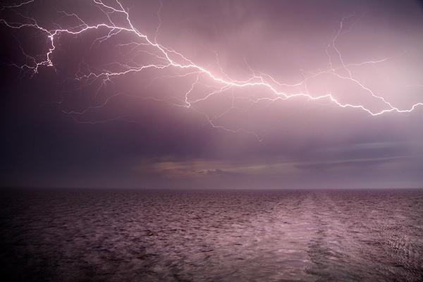 Thunder at Sea by MarcPK