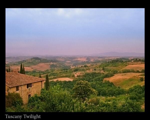 Tuscany Twilight by ferguspatterson