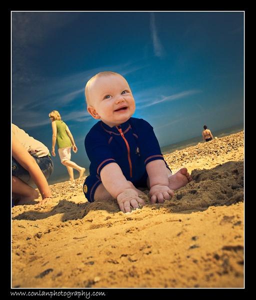 My nephew @ the beach by gavinconlanphoto