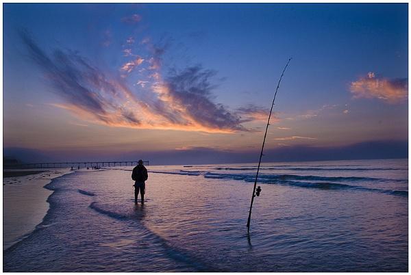 Fishing at Saltburn by Vixs