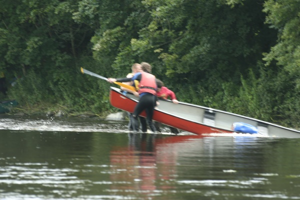 struggle on river barrow by saber