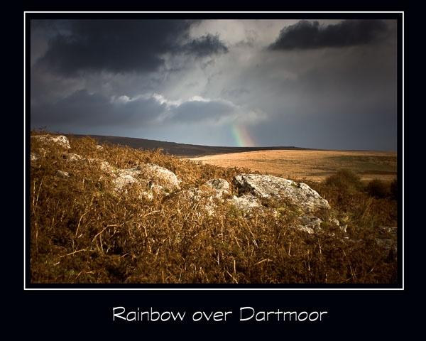 Rainbow over Dartmoor by Meg