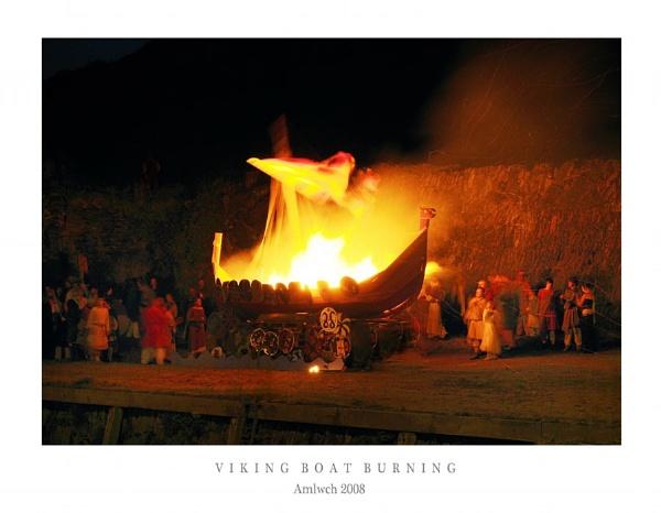 Viking Boat Burning by Alfoto