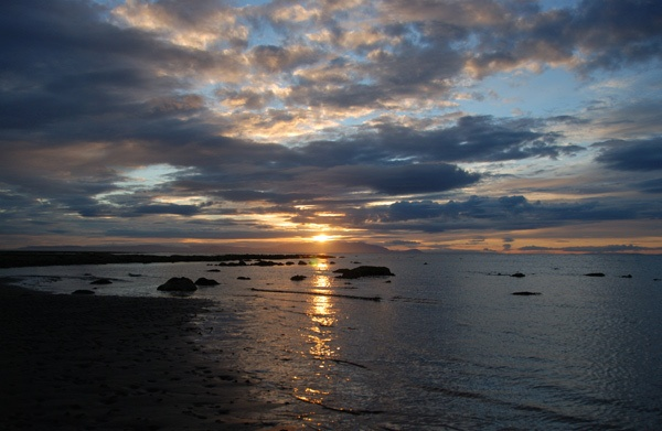 sunset over Arran on the Firth of Clyde by John45