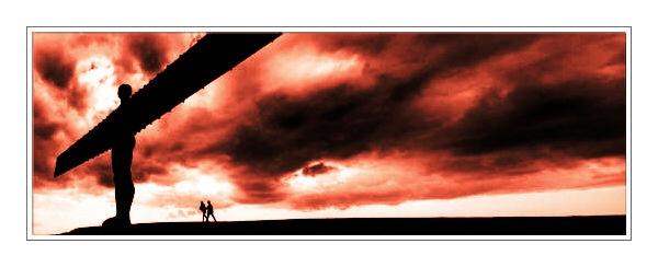 A walk with an Angel by Foxwizard