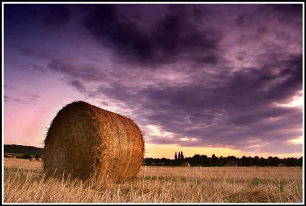 Sunset bales by jimbo_t