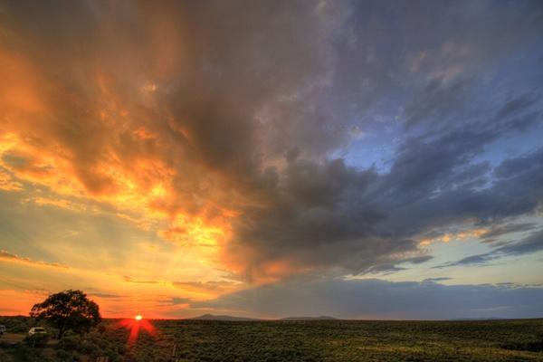 Taos Sunset by skoffs