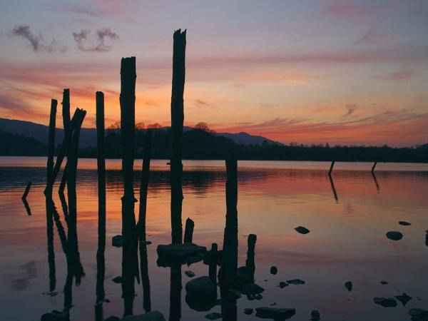 Sunset Derwant Water by GBYORKE