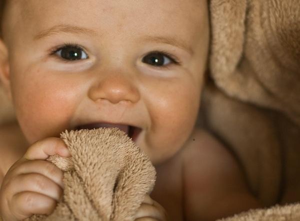 Baby in blanket by vickik
