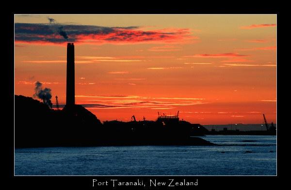 Sunset over Port Taranaki by SteveNZ