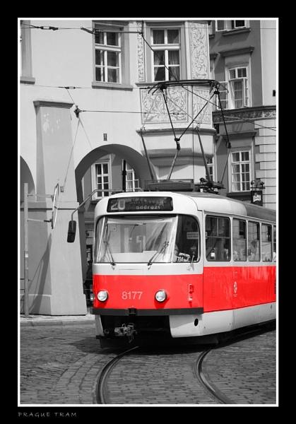 Prague Tram by jogennard