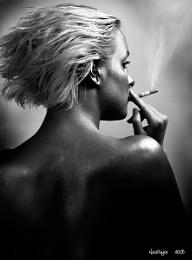 Tara Painted Silver and Smoking Ayy FAAAAG #134