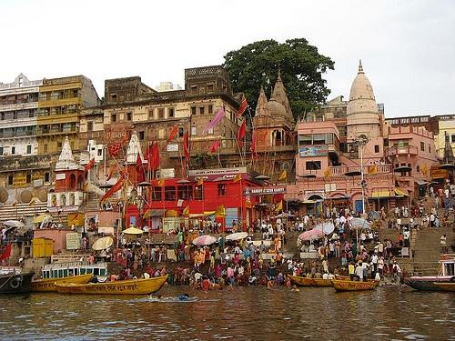 River Scene, Varanasi by fransglobal