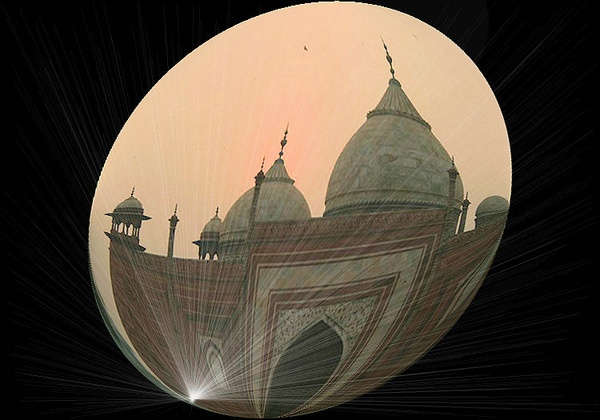 Agra Mosque at dusk by penelope_r