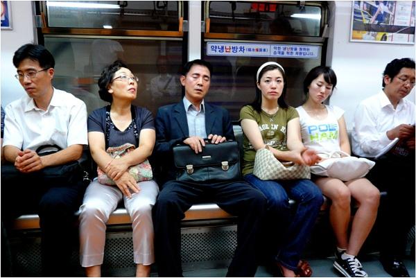 Commuters in Seoul by WimdeVos