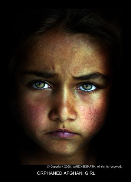 Orphaned Afghani girl by Birte