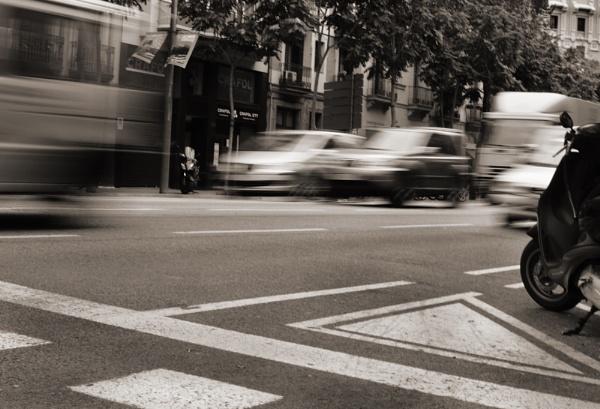 Barcelona Traffic by Bradfleet12