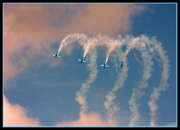 The Blades Aerobatic Display Team by teocali