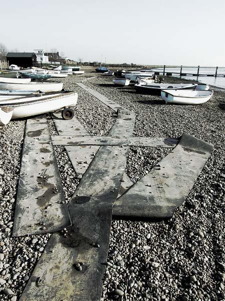 Boats and mats at Orford by JBA