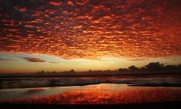blazing sky