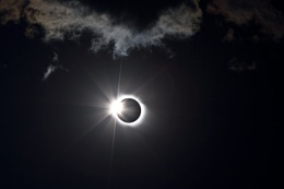 Diamond ring into totality