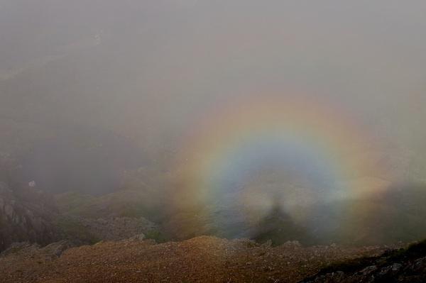Brocken spectre from Crib Goch ridge (take 2) by MikePeel