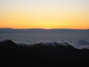 start of sunrise on Mt. Haleakala by attybrown