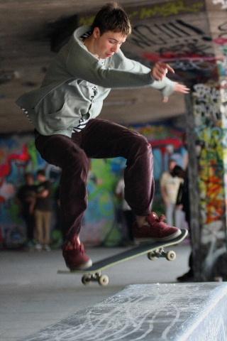 Skateboard bench jump by steve_eb