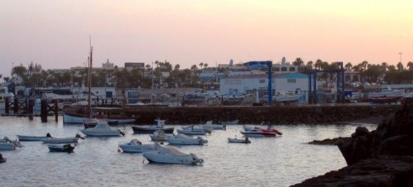 Lanzarote Harbour by Heatherj
