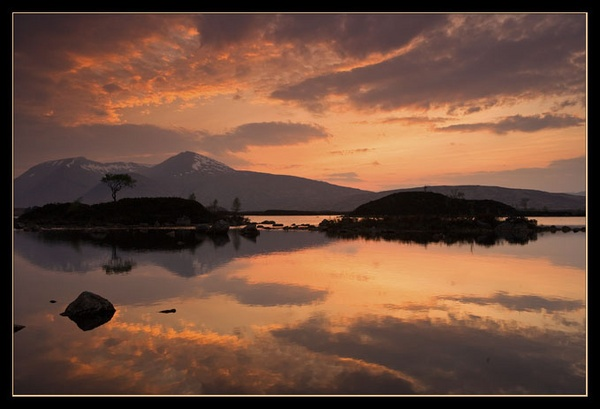 Sunset at Rannoch Moor by Sharad