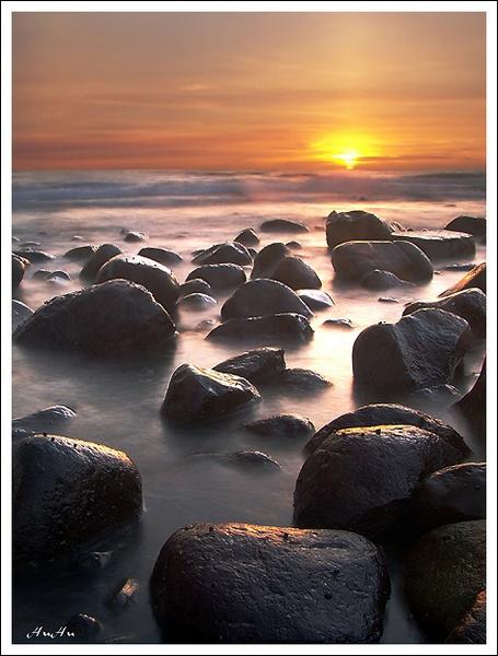 sunset corner by HuHuLin