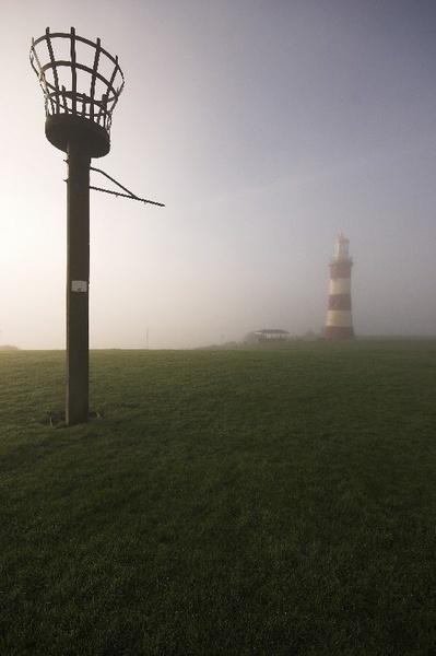 Foggy Plymouth Hoe by ALongden